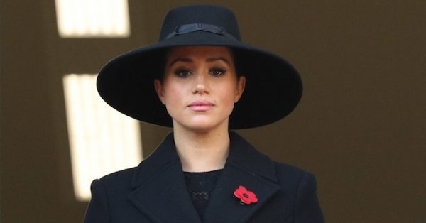 Meghan at Cenotaph for Remembrance Sunday