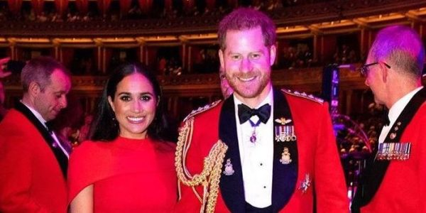 Meghan stuns in red for Mountbatten Festival of Music